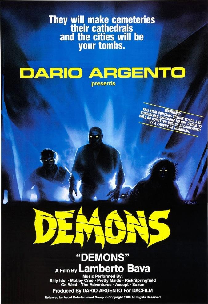 demons, 1985, lamberto bava, dario argento