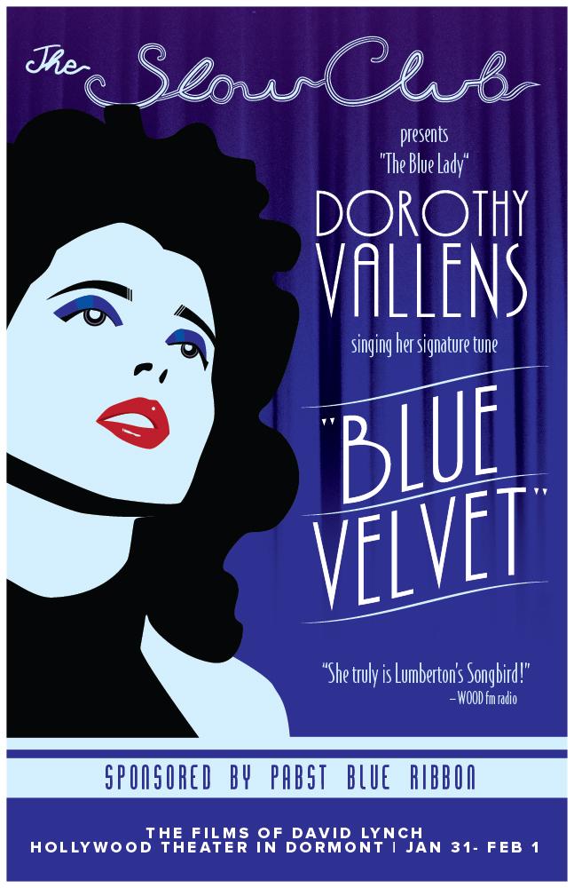 blue velvet, david lynch, noir, film poster, mike rubino, isabella rosselini