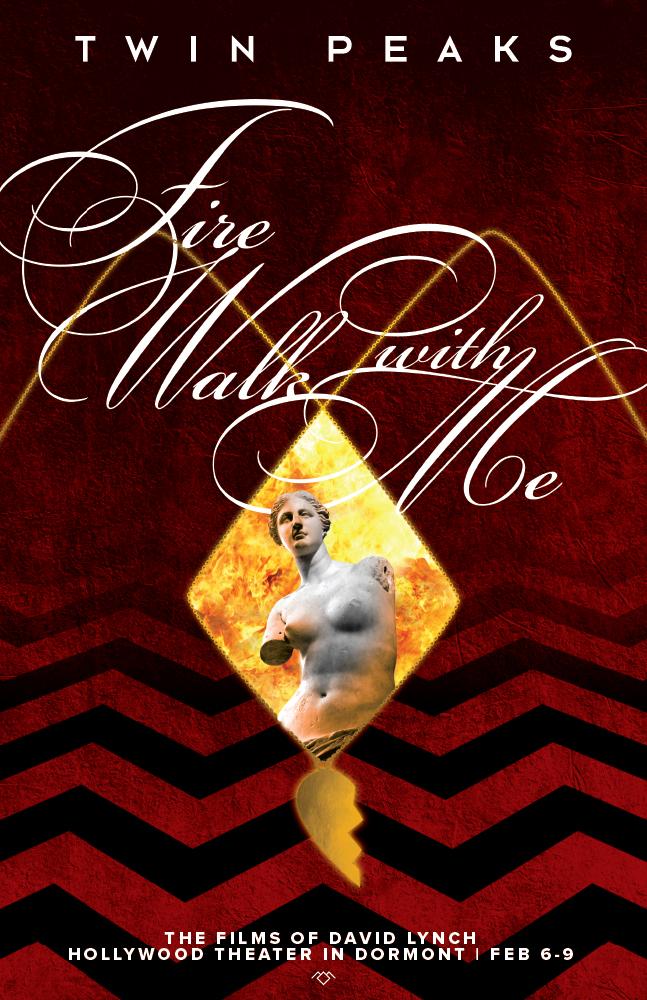 twin peaks, david lynch, fire walk with me, poster, mike rubino