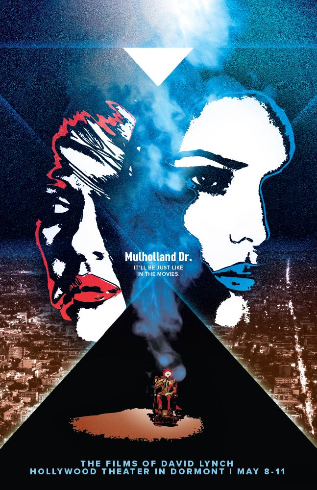 mulholland drive, david lynch, naomi watts, film poster, noir, mike rubino