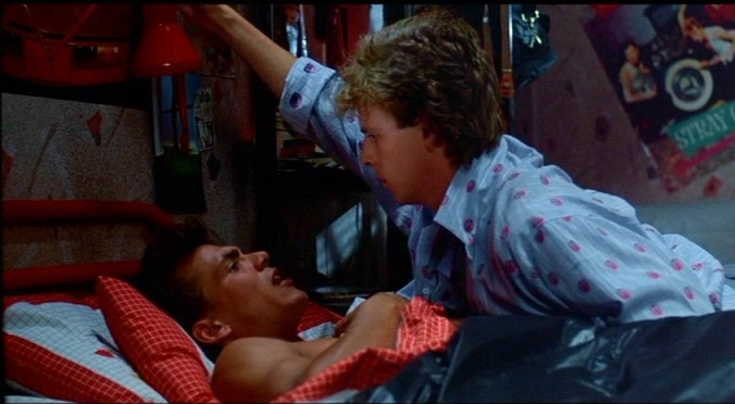Robert Rusler and Mark Patton in A Nightmare On Elm Street Part 2: Freddy's Revenge