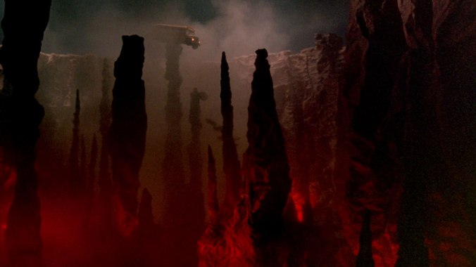 Freddy drives the school bus into hell in A Nightmare On Elm Street Part 2: Freddy's Revenge