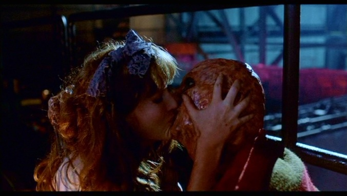 Kim Myers and Robert Englund in  A Nightmare On Elm Street Part 2: Freddy's Revenge
