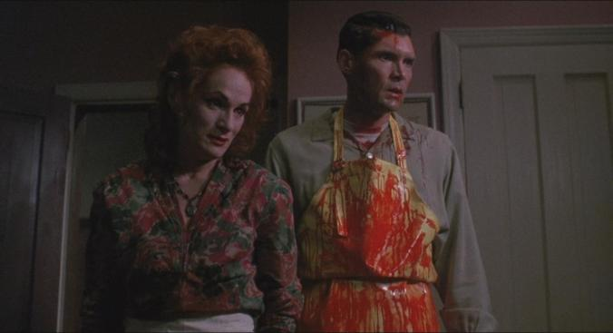 Wendy Robie and Everett McGill in The People Under The Stairs Wes Craven 1991