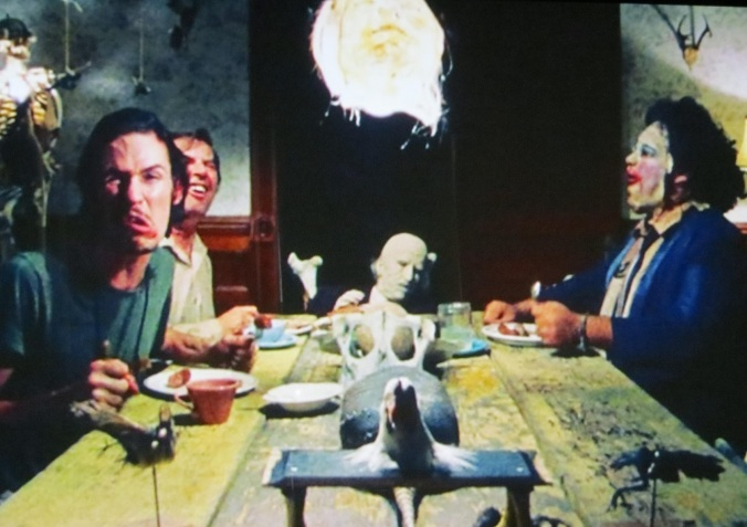 The dinner time scene in the texas chain saw massacre